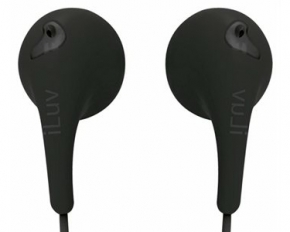 iLuv Bubble Gum II In-Ear Headphones - Black