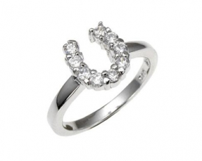 Sterling Silver Colt CZ Ring - Size 7