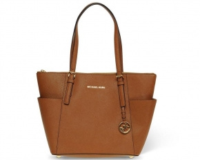 MICHAEL by Michael Kors Jet Set East West Leather Tote Bag - Brown
