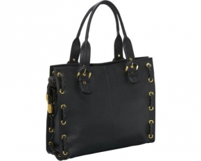 AmeriLeather Double Handle Tote - Black