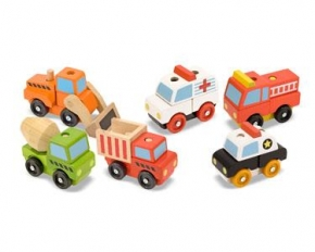 Melissa & Doug Stacking Vehicles Bundle