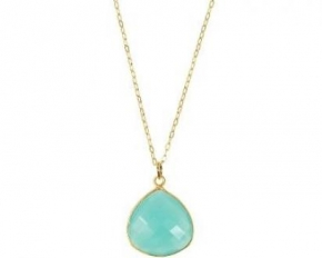 Charlene K Faceted Gemstones Pendant - Aquamarine