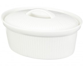 BergHOFF Hotal Line Bianco Oval Covered Casserole