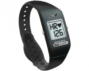 Skechers Go Walk Pulse Bandz Heart Rate Monitor Watch - Black & Silver - SK10