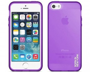 id America Liquid Matte Rigid-Flex Case for iPhone 5S & 5 - Purple