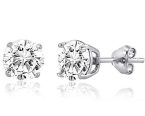 Swarovski Elements Stud Earrings - Sterling Silver