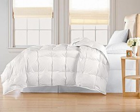 Modern Luxury 100% Down-Blend Comforter - White - Full/Queen