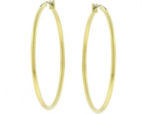 Michelle Mies 14 Karat Gold Hoop Earrings