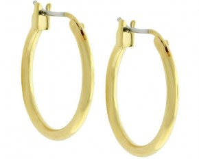 Michelle Mies 18 Karat Gold Plated Small Hoop Earrings