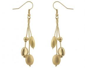 Michelle Mies Golden Bead Drop Earrings