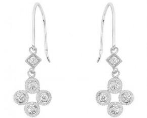 Michelle Mies Petite Filigree Cubic Zirconia Chandelier Earrings