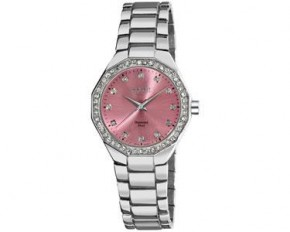 August Steiner Women's Diamond Analog Quartz Watch - Pink - AS8044PK