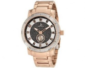 Joshua & Sons Men's Stainless Steel Diamond Bracelet Watch - Gold & Black - JS-20-RG