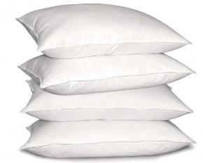 Modern Luxury 300 Thread Count 100% Cotton Sateen Down-Alternative Pillows - Set of 4