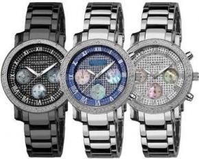 Akribos XXIV Women's Stainless Steel Diamond Chronograph Bracelet Watch - Black - AK440BK