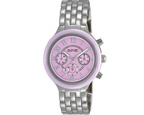 August Steiner Women's Multi-Function Analog Quartz Watch - Pink Sunray - AS8038SS