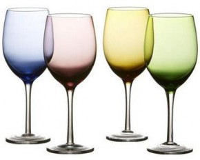 Fifth Avenue Crystal Napa Colors Goblets - Set of 4