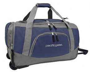 "Pacific Gear 20"" Carry-On Rolling Duffel Bag - Navy & Gray"