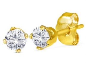 14K Gold 1/4 Cttw. Diamond Studs - Yellow Gold