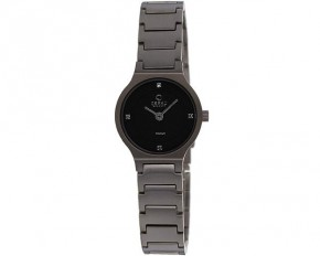 Obaku Women's Titanium Analog Quartz Watch - Black - V133STBST