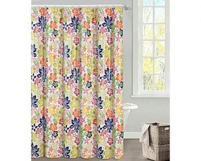 Bold Floral Pattern PEVA Shower Curtain