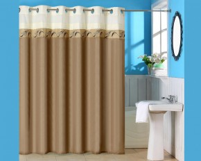 Lavish Home Abilene Embroidered Shower Curtain with Grommets