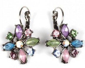Jadore Bijoux Flower-Shaped Earrings - Multi-color