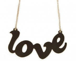 Jadore Bijoux Gold Plated Love Necklace