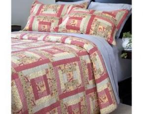 Lavish Home 3-Piece Melanie Printed Quilt Set - Full/Queen
