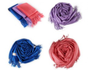 Pashmina Scarves Luxurious Wool & Silk Blend - 3-Pack - Assorted Colors
