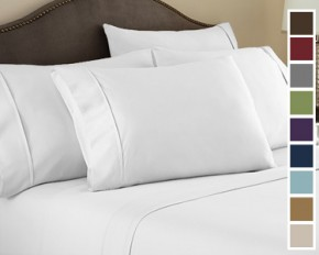 1500 Series Ultra-Fine Weave Combed Microfiber Sheet Set - Queen - White