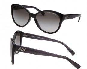Armani Exchange Women's Butterfly Sunglasses - Black & Gray