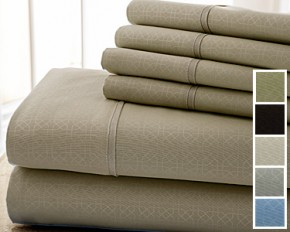Colonial Home Textiles Kensington Hotel 6-Piece Sheet Set - Queen - Taupe