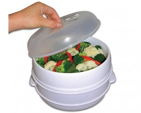 2-Tier Microwave Steamer Food Cooker