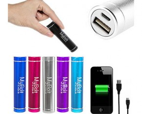 iEnjoy MyBolt Portable USB Flash Charger - Black