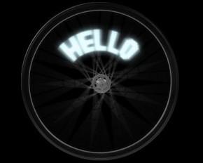 TGT Bike Spoke Message 14 LED Light