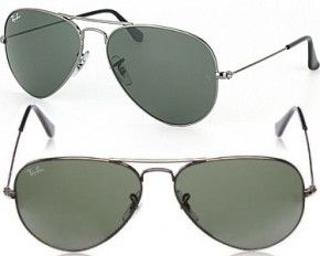 Ray-Ban Aviator Sunglasses-Large Gunmetal/Gray 55MM