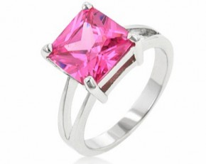 Pink Ice Gypsy Princess Cut Ring - Size 8