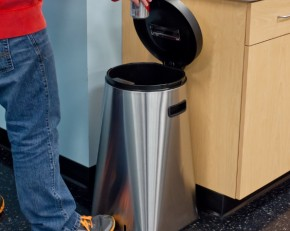 UV Sanitizing Waste Trash Can Bin-Stainless Steel