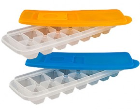 Set of 2 Ice Cube Trays with Lids