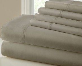 1000 Thread Count Double Hem Sheet Set - King - Taupe