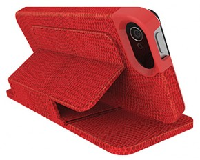 Kensington Portafolio Duo K39618WW Carrying Case (Wallet) for iPhone - Red