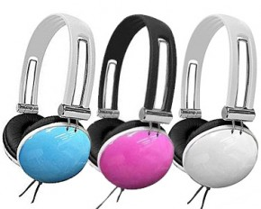 Hype HY-820DJ-PNK Sleek HY Over the Head Headphones - Pink