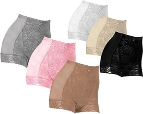 Set of 3 Rhonda Shear Control Underwear - Small - Pink, Beige, Grey
