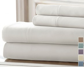 Colonial Home 300TC Tencel 4-Piece Sheet Set - King - Sage