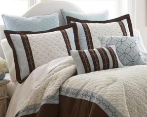 PCT Home Collection Baxtor Quilted 8-Piece Comforter Set - Queen