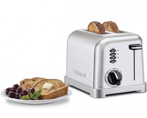 Cuisinart 2-Slice Metal Classic Stainless Steel Toaster - Factory Refurbished
