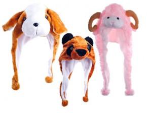 Plush Critter Cap-Flop Ear Dog Hat
