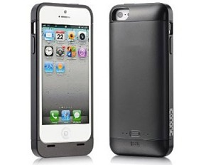 iCanonic Elite 2,000 mAh Rechargeable Extended iPhone 5 Battery Case - Matte Black