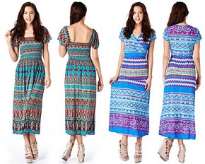 Dinamit Print Maxi Dress - Large - Bohemian